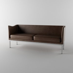 3d leather couch model