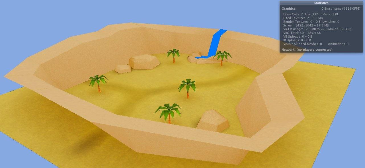 unity ready desert 3d model