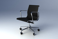 eames aluminium group chair 3d model