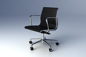 eames aluminium group chair 3d model