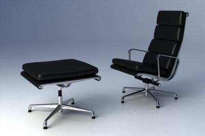 maya eames softpad group lounge chair