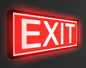 3d exit sign model