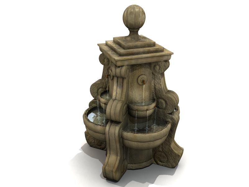 maya fountain - garden-style stone