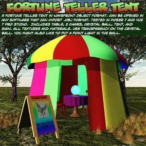 obj fortunetellertent fortune teller tent
