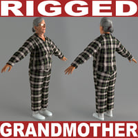 3d grandmother v5 rigged