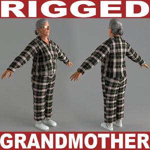 3d grandmother v5 rigged