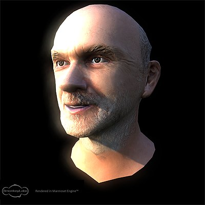 head games simulation 3d max