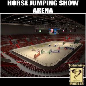 3dsmax horse jumping arena