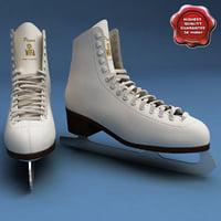 3d model of ice skates wifa prima