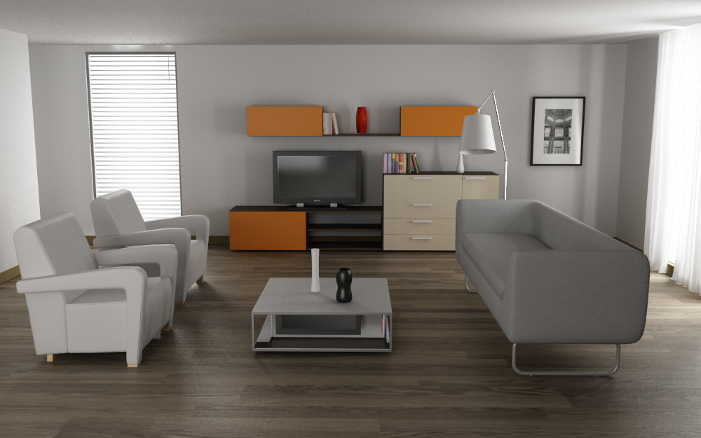 3ds max living room 01c for Decoration 3ds max