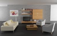 3d model of living room 02c