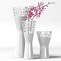 LSA Ice Vase-medium & flower