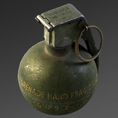 m67 grenade max8 3d model