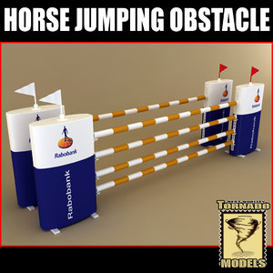 horse jumping obstacle 3d max