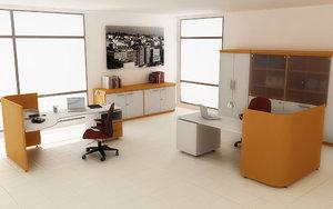 3d office interior 03a