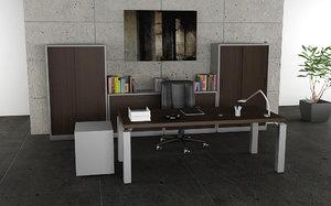 3d model office interior 05b