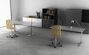 3ds max office interior