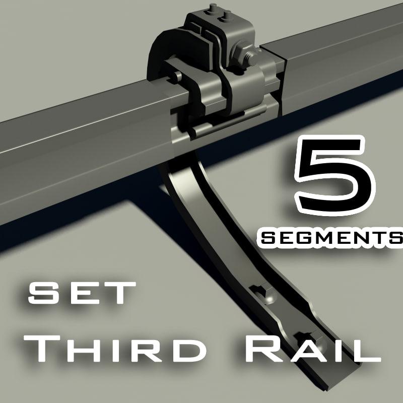 3d model of rail set