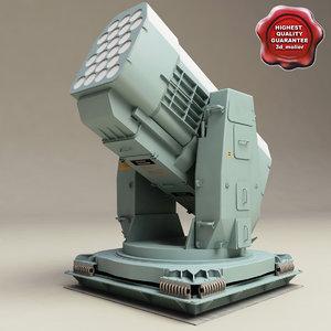 rim-116 rolling airframe missile 3d c4d