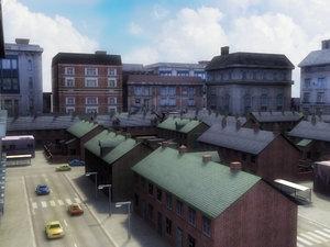 3d udk urban city model