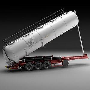 trailer semi-trailer bulk 3d model