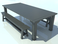 3ds max table bench max2010 1