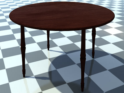 small wooden table includes 3d 3ds