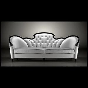 glamourous sofa mantellassi 3d model