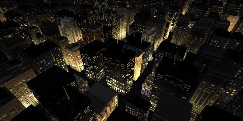 lwo building night rendering