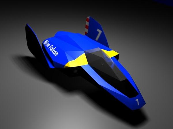 blue falcon bluefalcon obj free