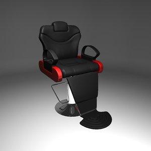 coiffeur chair 3d model