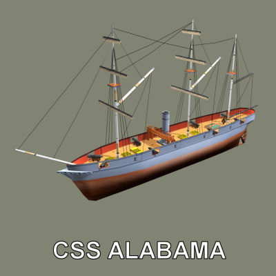 3ds max confederate ship