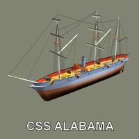 Sail Ship CSS Alabama (Steamer)