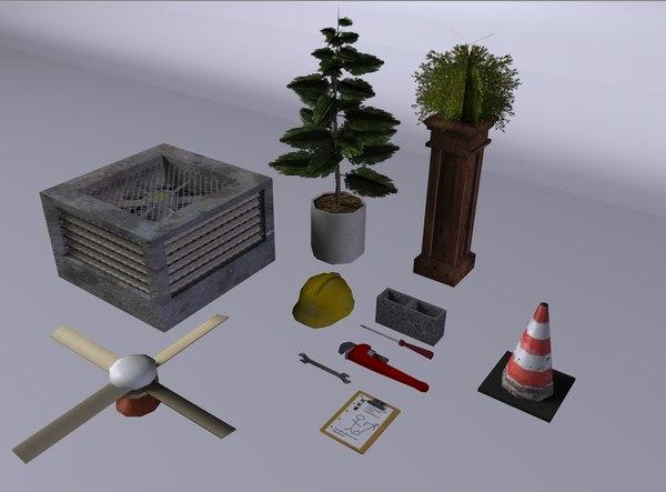 stuff plant 3d model