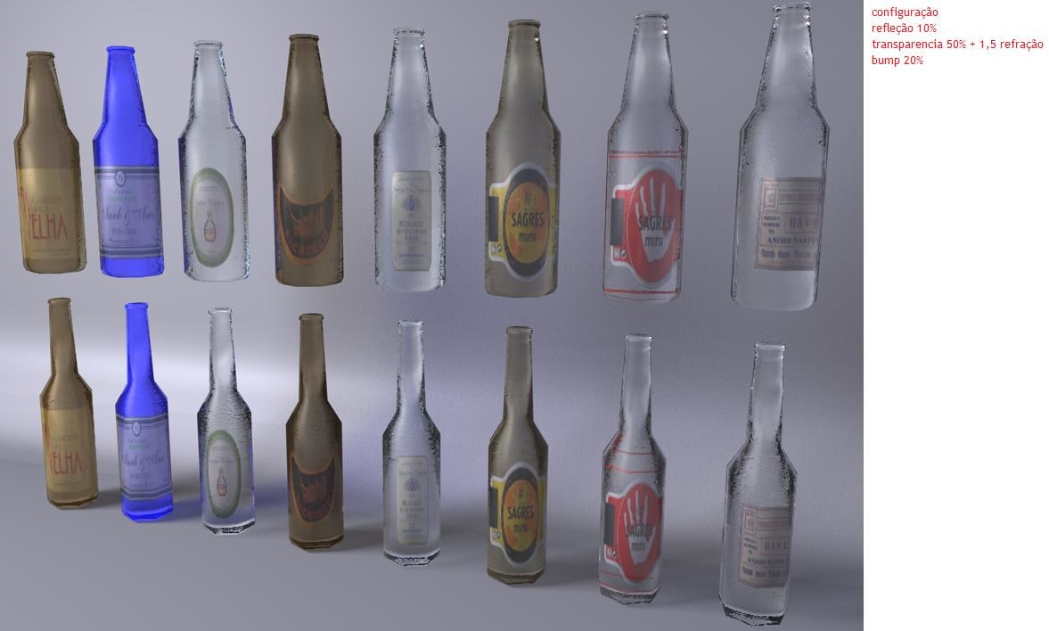 free obj model bottle