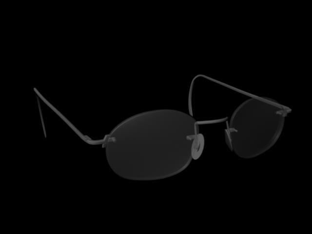 3d rimless eye glasses model