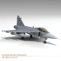 jas 39a thai 39 gripen 3d model