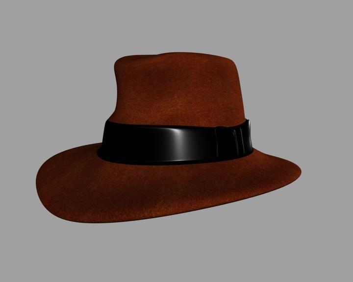 3d model indiana jones hat