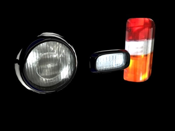 maya car headlights