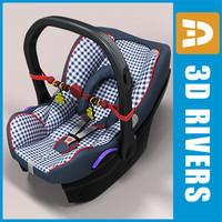3d infant car seat model