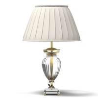 leone aliotti classic crystal glass table lamp