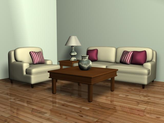 3ds living room sofa chair