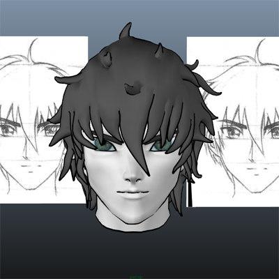 maya anime style head