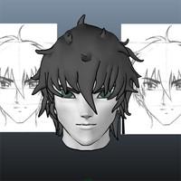 anime style head