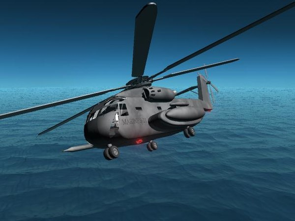 sikorsky ch53 helicopter 3d model