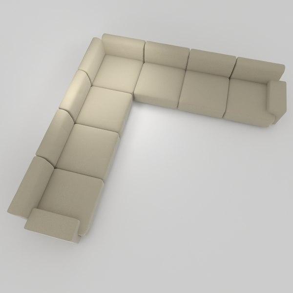 cassina meix sofa 3d model