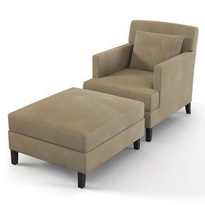 3d model modernature charlotte chair