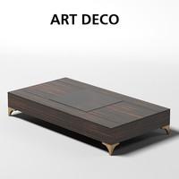 oak design art deco cocktail coffee table