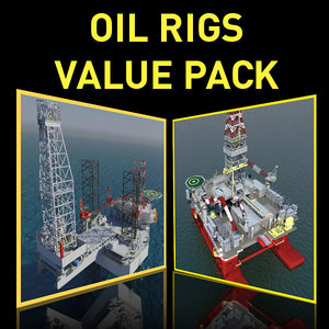 oil rigs value 3d model
