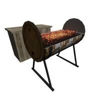 3d bbq oil drum